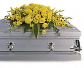 Graceful Grandeur Casket Spray in Dallas TX, In Bloom Flowers, Gifts and More