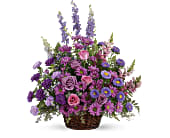 Gracious Lavender Basket in Lewiston, Maine, Val's Flower Boutique, Inc.