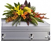 Island Memories Casket Spray in West Bend WI, Bits N Pieces Floral Ltd