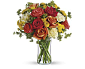 Citrus Kissed in Taylorville IL, A Classic Bouquet