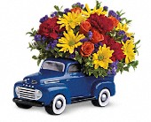 Teleflora's '48 Ford Pickup Bouquet in Clovis CA, A Secret Garden