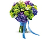 Luxe Lavender and Green Bouquet in New York NY, Fellan Florists Floral Galleria