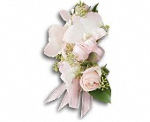 Beautiful Blush Corsage in Monroe MI, North Monroe Floral Boutique