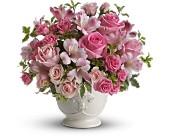 Teleflora's Pink Potpourri Bouquet with Roses in Burnaby BC, Lotus Flower & Terra Plants