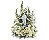 Teleflora's Garden of Serenity Bouquet in Houston TX, Village Greenery & Flowers