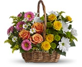 Sweet Tranquility Basket in Harlan KY, Coming Up Roses