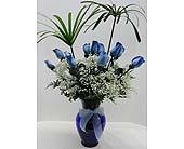 1 Dozen Blue Roses in Gastonia NC, Fine And Fancy Flowers