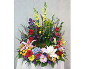 Rainbow Urn Wreath in Stephens City, Virginia, The Flower Center