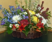 With Sympathy Basket in Saratoga Springs, New York, Dehn's Flowers & Greenhouses, Inc