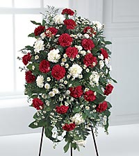FTD Crimson and White Standing Spray in Woodbridge VA, Lake Ridge Florist