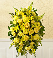 1800Flowers All-Yellow Sympathy Spray in Woodbridge VA, Lake Ridge Florist