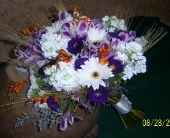 Touch of fall Bridal Bouquet in Athens, Ohio, Jack Neal Floral