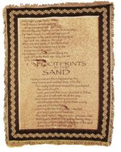 Footprints in the Sand Tapestry Throw in Indianapolis IN, Steve's Flowers and Gifts
