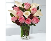 San Diego Flowers - PINK ROSES &amp; CALLA LILIES&lt;br&gt;$59.95- - Precious Petals