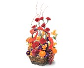Fruits and Flowers Basket in Charlotte NC, Starclaire House Of Flowers Florist