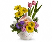 Houston Flowers - Teleflora's Easter Bunny Bouquet - Village Greenery & Flowers