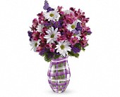 Teleflora's Lavender Plaid Bouquet in Savannah GA, Pink House Florist & Greenhouse
