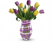 Teleflora's Lavender Plaid Tulip Bouquet in West Seneca NY, William's Florist & Gift House, Inc.