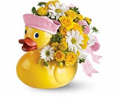 Teleflora's Ducky Delight - Girl in Brook Park OH, Petals of Love