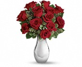 Teleflora's True Romance Bouquet with Red Roses in New London CT, Thames River Greenery
