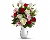 Teleflora's Love Forever Bouquet with Red Roses in Rush NY, Chase's Greenhouse