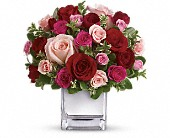 Teleflora's Love Medley Bouquet with Red Roses in Pella IA, Thistles