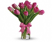Precious Pink TulipsColors may vary due to availability in Charleston IL, Noble Flower Shop