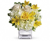 Teleflora's Sweetest Sunrise Bouquet in Redwood City CA, A Bed of Flowers