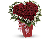 Heart and Soul - Deluxe with Red Roses in Paramus NJ, Evergreen Floral, Inc.