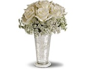 Teleflora's White Lace Centerpiece in Philadelphia, Pennsylvania, Schmidt's Florist & Greenhouses