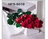 Classic 1 Dozen Long-Stemmed Roses - Red - Boxed in Westport CT, Old Greenwich Flower Shop