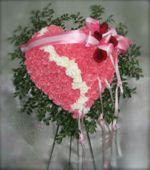 Pink Broken Heart With Roses in Philadelphia, Pennsylvania, Paul Beale's Florist
