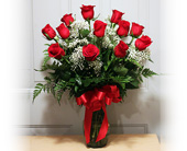 Cypress Flowers - One Dozen Long Stem Red Roses - Grand Designs Florist