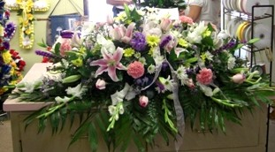 Garden Elegance Casket Spray in Pell City AL, Pell City Flower & Gift Shop