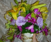 Lavish Lily Bouquet in Green Bay, Wisconsin, Enchanted Florist