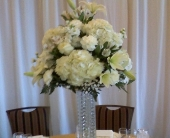 White Elegance in Staten Island, New York, Evergreen Florist