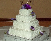 A Touch of Purple Cake  in Green Bay, Wisconsin, Enchanted Florist