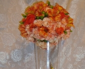 Orange Orb Centerpiece in Green Bay, Wisconsin, Enchanted Florist