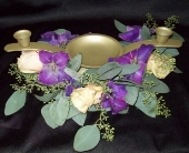 Purple Unity Candle in Green Bay, Wisconsin, Enchanted Florist