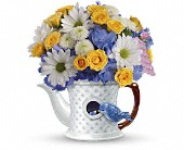 Elizabeth Flowers - Teleflora's Peek-a-Bird Bouquet - The Flower Cart
