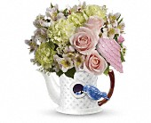 Elizabeth Flowers - Teleflora's Bluebird Blush Bouquet - The Flower Cart