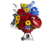 Fresno Flowers - WEBER King of the Grill by Teleflora - Rainbow Flowers