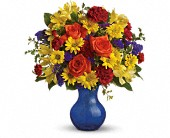 Teleflora's Three Cheers for You! in Champaign IL, Forget Me Not Florals