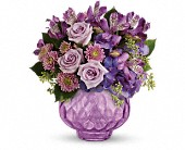 Teleflora's Lush and Lavender with Roses in Columbiana OH, Blossoms In the Village