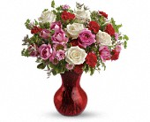 Teleflora's Splendid in Red Bouquet with Roses in Oakland CA, Lee's Discount Florist