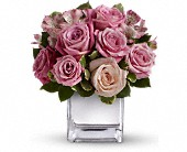 Teleflora's Rose Rendezvous Bouquet in Champaign IL, Forget Me Not Florals