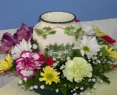 FLORAL TART WARMER in Claremont NH, Colonial Florist