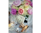 Wedding Arrangement in Colonia, New Jersey, Vintage and Nouveau
