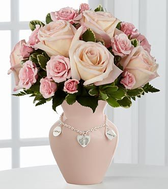 The FTD� New Mother's Charm� Rose Bouquet - Girl - in Highlands Ranch CO, TD Florist Designs