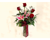 Lily and Rose Arrangement in Wauseon OH, Anything Grows<br>800-297-8030